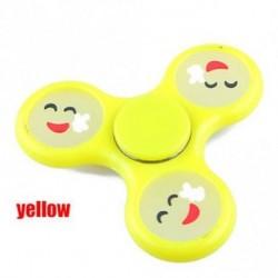SÁRGA - Aranyos Luminous Smile Arc Kézi Spinner Emoji Fidget Glow Relief Focus Stress