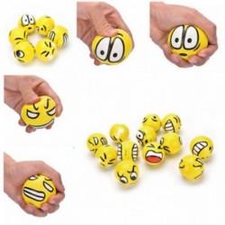 12db / lot Rajzfilm Emoji arcexpresszió Squeeze Ball lágy anti-stressz játék ÚJ