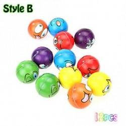 B stílus - 12db / lot Rajzfilm Emoji arcexpresszió Squeeze Ball lágy anti-stressz játék ÚJ