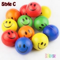 Stílus C - 12db / lot Rajzfilm Emoji arcexpresszió Squeeze Ball lágy anti-stressz játék ÚJ