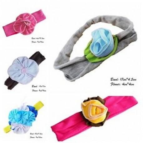 71a4f9498c Nagy ajándék Aranyos Gyerekek Lányok Baba Toddler Virág Bow Fejpánt Haj  Band Headwear le