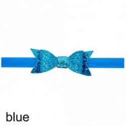kék - Baba lány Shiny Sequined Hair Band Bowknot fejpánt