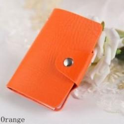 narancs - 24Card Slots kétoldalas műanyag kártya tartó kis méretű üzleti hitelkártya táska