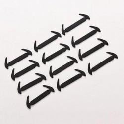 Fekete - 12pc Minden Fit Strap Shoelaces Silicone No Tie Elastic