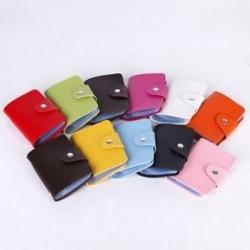 Táskák Candy Color Protector Aranyos kártya tartó PU Leather 24 Slots Organizer