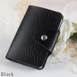 fekete - Táskák Candy Color Protector Aranyos kártya tartó PU Leather 24 Slots Organizer