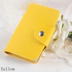 sárga - Táskák Candy Color Protector Aranyos kártya tartó PU Leather 24 Slots Organizer