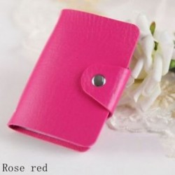 rózsavörös - Táskák Candy Color Protector Aranyos kártya tartó PU Leather 24 Slots Organizer