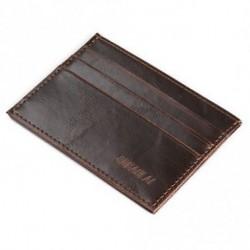 * 1 kávé - Férfi őrült ló bőr Slim hitelkártya-tartó tartó pénztárca tok pénztárca táska tasak