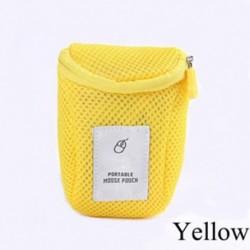 Sárga - Utazás hordozható egér USB Számítógép tartozék táska táska hordtáska tok táska