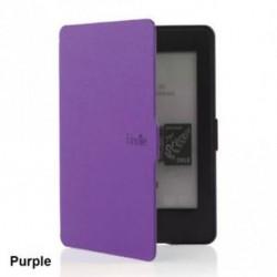 Lila - Divat mágneses ébresztő / alvó PU bőr tok borítás Amazon Kindle Paperwhite