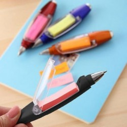 Kék Multi Function LED Fény Labda toll Műanyag Sticky Notes