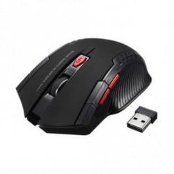 Fekete - 2.4Ghz Mini vezeték nélküli optikai játék egér egér USB vevővel PC laptophoz