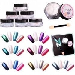 1db LULAA Tükörfényes pigment por körömhöz - műkörömhöz - szivacsos applikátorral