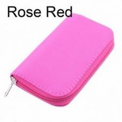 rózsavörös - Box tok Memory Card tároló tartó CF / SD / SDHC / MS / DS táska hordtáska