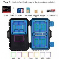 C típus - Tárolódoboz SIM SD TF kártya kártya Memóriakártya tok beépített kártyaolvasó