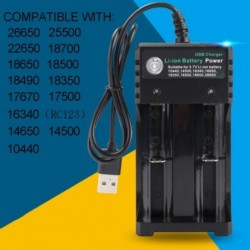 2Slot Li-ion akkumulátortöltő adapter 18650-hez 18500 16340 14500 26650