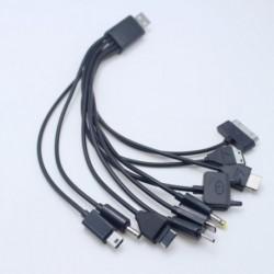 1x 10az1-ben univerzális Muti töltő adapter USB adatkábel vezetékes vonal PSP telefon iPod