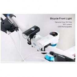 300LM kerékpáros kerékpár LED lámpa USB újratölthető kerékpáros fej világító fáklya Új