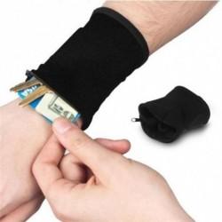 1x Többfunkciós csuklótáska cipzáras pénztárca kulcstartó sport karvédő