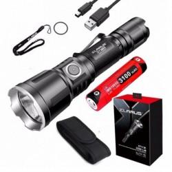 1x KLARUS XT11X zseblámpa CREE XHP70.2 LED 3200 Lumen fénysugár USB 18650 akkumulátorral