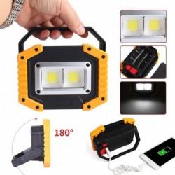 1x 30W LED fényes fényszóró lámpa COB USB porttal Garázs kempingezéshez horgászat vadászat