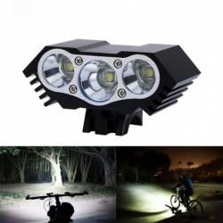1x 10000Lm 3 x T6 LED 4 üzemmód Kerékpárlámpa