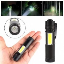 1x Mini zseblámpa XPE Q5   COB LED lámpa toll lámpa AA / 14500 4 üzemmód