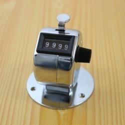 1x 4 számjegy kézi mechanikus fém asztali ütés számláló