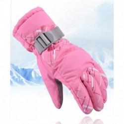 1pár női téli meleg vízálló sí snowboard szánkó szigetelt kesztyű