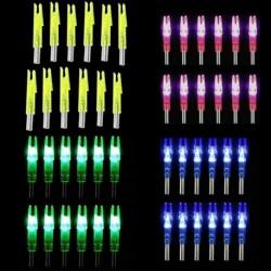 6db vadászati lövés fényes világító összetett íj LED izzó nyíl farok 6.2mm nyíl tengelyre