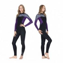1x 2MM neoprén női karcsúsító Hosszú ujjú búvárruha snorkeling csónakázás szörfözés fürdőruha úszás