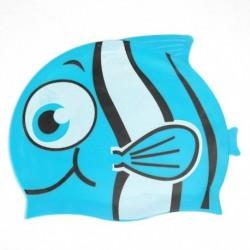 1db szilikon gyermek gyerek hal halacska vitorlás hal mintás úszósapka
