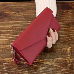 1x divatos egyszínű pénztárca persely pénztartó