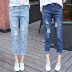 1x kék lyukas szakított női nadrág