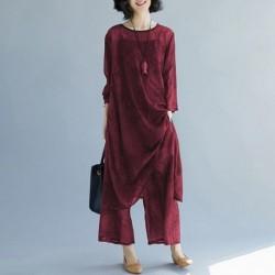 1x női nyári divatos laza ruha nadrágruha egyrészes