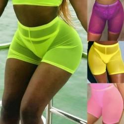 1x Női divatos hálós strand övidnadrág női szexi alkalmi nadrág
