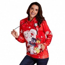 1db női hosszú ujjú karácsonyi téli télapó mintás felső pulcsi pulóver