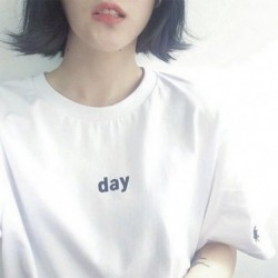 1db rövid ujjú női nyári laza póló top felső