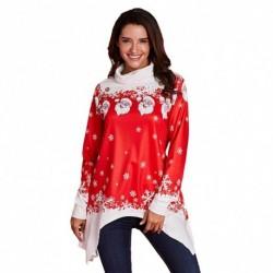 1db hosszú ujjú női téli önnep karácsony laza póló top felső pulcsi pulóver