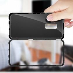 1x Samsung Galaxy S8 S9 Plus mágneses adszorpciós edzett üveg hátsó tok
