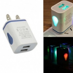 1x LED USB 2 port Fali AC intelligens töltőadapter US / EU Plug