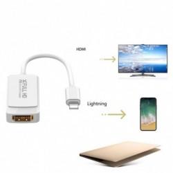 1x Világítós 2K HD HDMI kábel adapter Apple 8Pin - HDMI Digitális AV átalakító iPad iPhone iOS 12