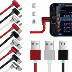 1x Mágneses töltő kábel USB töltőkábel iPhone Samsung Type-C Micro