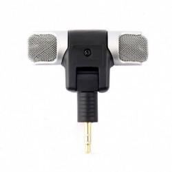1x Mini 3,5 mm mikrofon sztereó mikrofon rögzítésére Mobil telefon stúdió interjú mikrofon Android