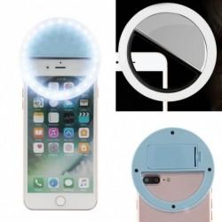 1x Szelfi LED világító gyűrű Flash Clip fényképezőgép telefon tablett iPhone Samsung