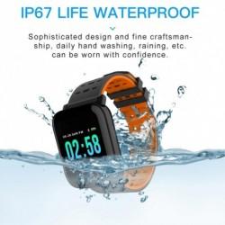1x Fitness óra okosóra Android iPhone érintőképernyő BT alvás monitor pulzusszám vérnyomás mérő