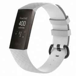 1x 3D szilikon karszalag szíj Fitbit töltésre 3 csere óraszíj