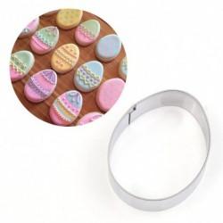 1db kis rozsdamentes acél húsvéti tojás süti keksz vágó fondant vágó DIY eszközök