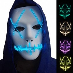 1x LED maszk világító maszk jelmez kiegészítő ijesztő halloween party dekoráció